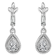 Sterling Silver 0.12ct Diamond Earring - Product number 6254780
