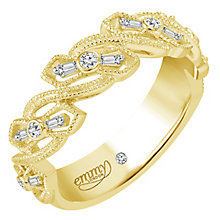 Emmy London 9 Ct Yellow Gold 0.12 Ct Diamond Ring - Product number 6255167