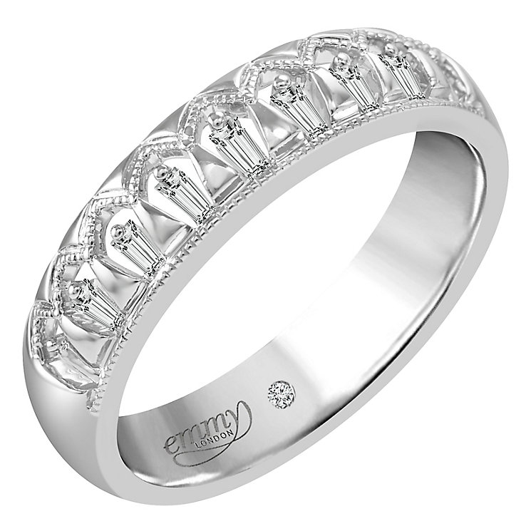Emmy London 18ct White Gold 0.10ct Diamond Eternity Ring - Product number 6255604