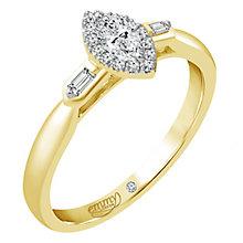 Emmy London 18 Carat Yellow Gold 1/4 Carat Diamond Ring - Product number 6256422