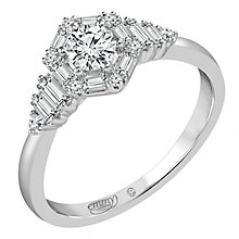 Emmy London Palladium 1/2 Carat Mixed Cut Diamond Ring - Product number 6257321