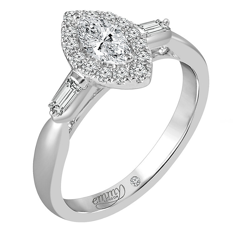 Emmy London Platinum 3/5 Carat Diamond Solitaire Ring - Product number 6257453