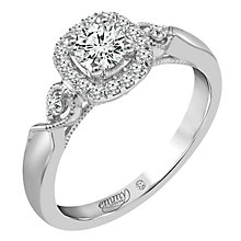 Emmy London Platinum 1/2 Carat Diamond Solitaire Ring - Product number 6259065