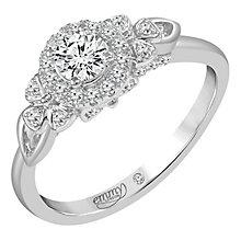 Emmy London Palladium 1/2 Carat Round Cut Diamond Set Ring - Product number 6259480