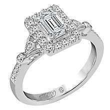 Emmy London 18 Carat White Gold 1 Carat Diamond Ring - Product number 6260322