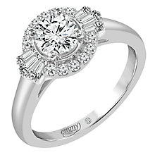 Emmy London 18ct White Gold 1 Carat Round Cut Diamond Ring - Product number 6260462