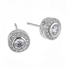 Sterling silver cubic zirconia stud earrings - Product number 6261884