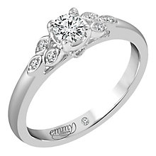 Emmy London 9ct White Gold 1/5ct Diamond Ring - Product number 6262724
