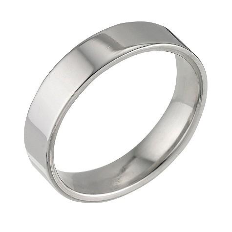 Platinum super heavy flat 5mm wedding ring