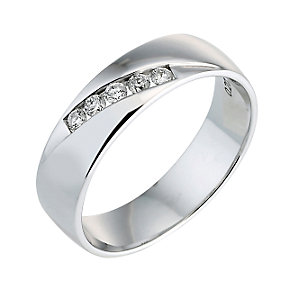 18ct white gold fifth carat diamond set ring - Product number 6267696