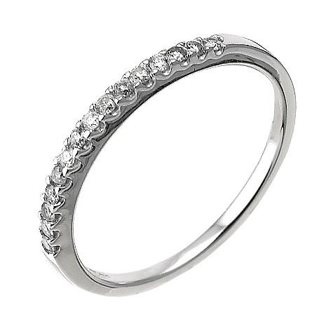 9ct white gold ladies' 15 point diamond wedding ring