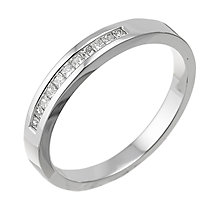 18ct white gold ladies' 15 point diamond wedding ring - Product number 6269079