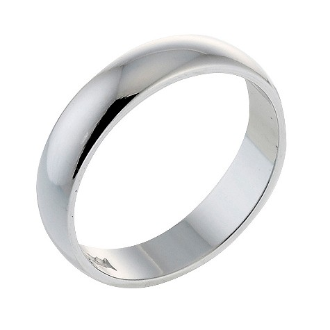 Platinum D shape extra heavy weight 3mm ring