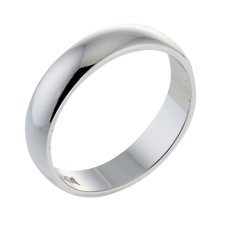 platinum d shape heavy weight 3mm ring ernest jones