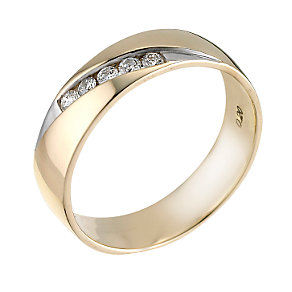 18ct gold two colour fifth carat diamond ring - Product number 6269486