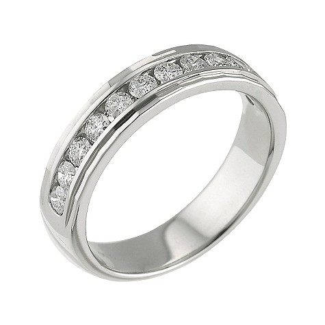 Platinum half carat diamond ring