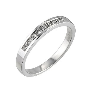 9ct white gold 0.15 carat diamond ring - Product number 6270336