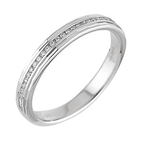 18ct white gold ladies' diamond wedding ring - Product number 6271111