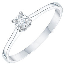 9ct White Gold Diamond Solitaire Ring - Product number 6272215