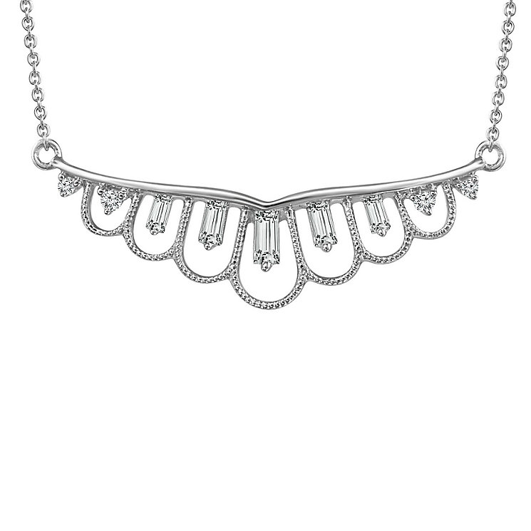Emmy London Sterling Silver 0.12 Carat Diamond Necklet - Product number 6273246