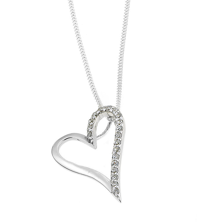 Sterling Silver Cubic Zirconia Heart Pendant - Product number 6273904
