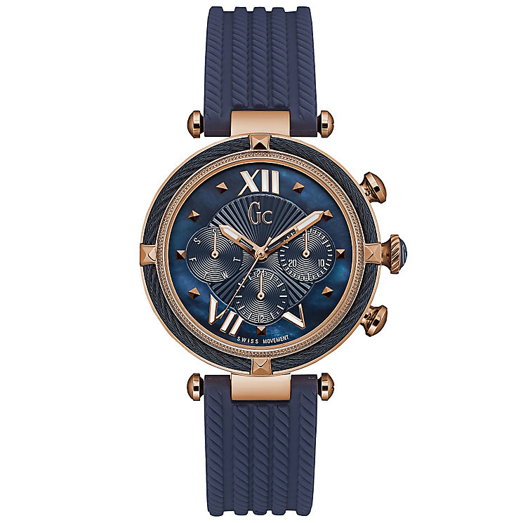 GC LadyChic Ladies' Rose Gold Plated Strap Watch - Product number 6276490