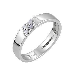 Ladies' 9ct White Gold Diamond Set Ring