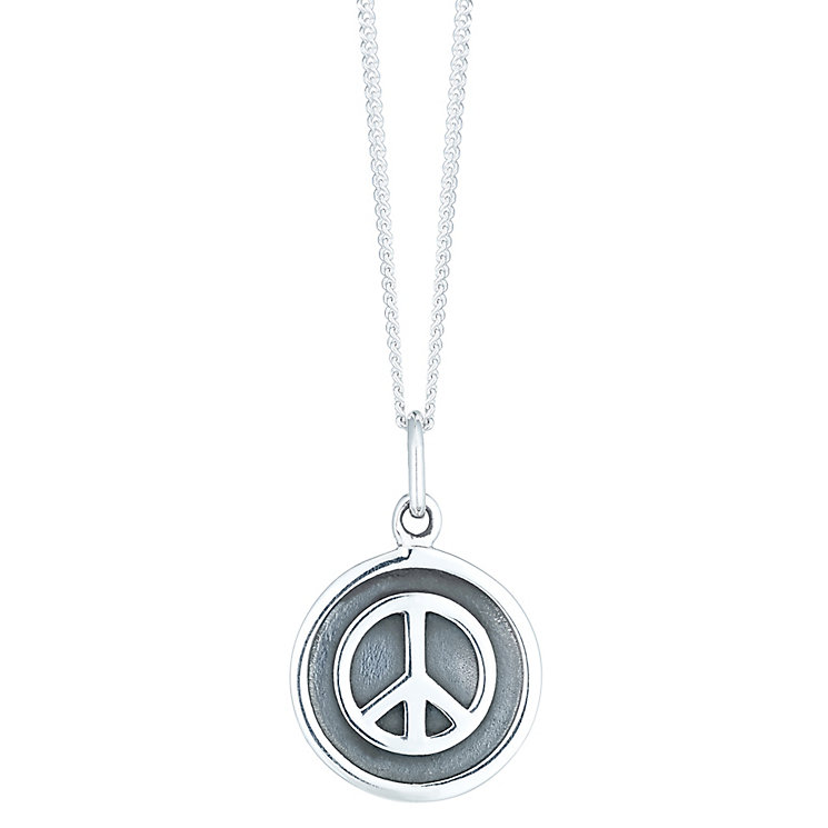 Sterling Silver Peace Symbol Pendant - Product number 6278205