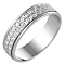 Ladies' 9ct White Gold 5mm Diamond Cut Ring - Product number 6279961