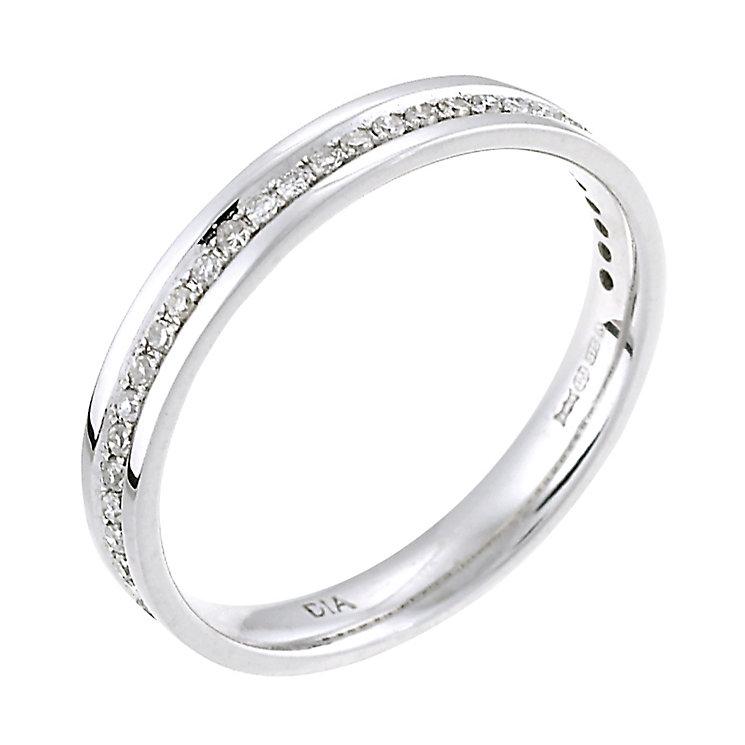 9ct white gold 15 point wedding ring h samuel