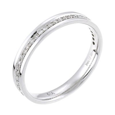 9ct White Gold 15 Point Diamond Wedding Ring HSamuel