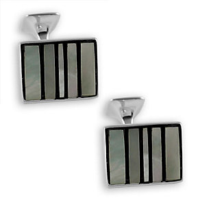 Striped mother of pearl cufflinks - Product number 6290671