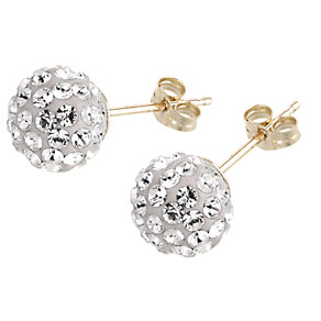 Evoke 9ct Gold Crystal Earrings - Product number 6298052