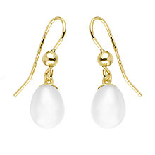 9ct Gold Cultured Freshwater Pearl Drop Earrings - Product number 6299563