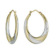 9ct Yellow Gold Creole Earrings - Product number 6301509