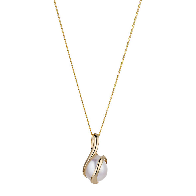 9ct Gold Cultured Freshwater Pearl Pendant - Product number 6301975