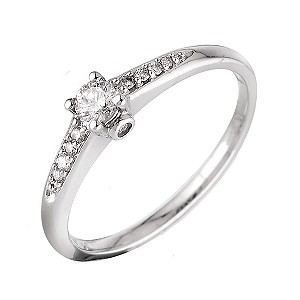 18ct White Gold Fifth Carat Solitaire Ring