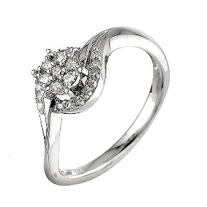 18ct White Gold Fifth Carat Diamond Ring