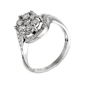 18ct white gold three quarter carat diamond ring