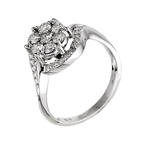 18ct white gold three quarter carat diamond ring - Product number 6314716
