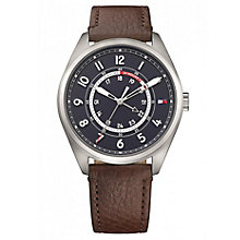 Tommy Hilfiger Men's Brown Leather Strap Watch - Product number 6319858