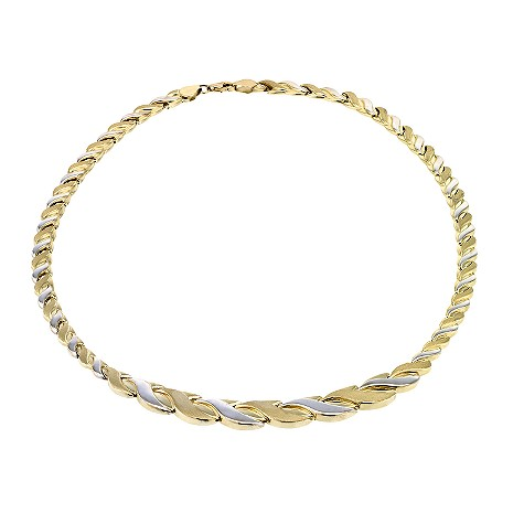 9ct two colour gold necklace