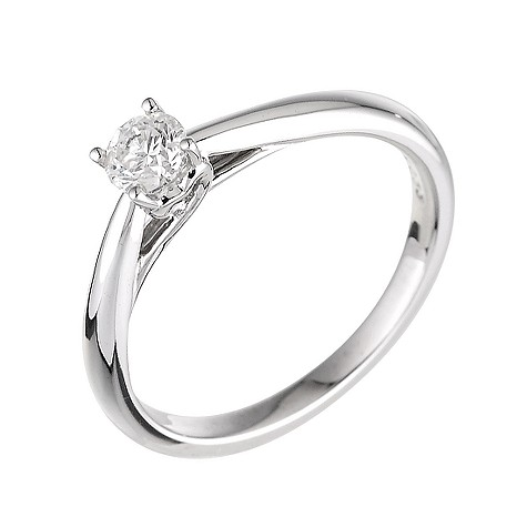 9ct white gold third carat diamond ring