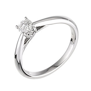 9ct white gold third carat diamond solitaire ring - Product number 6324266