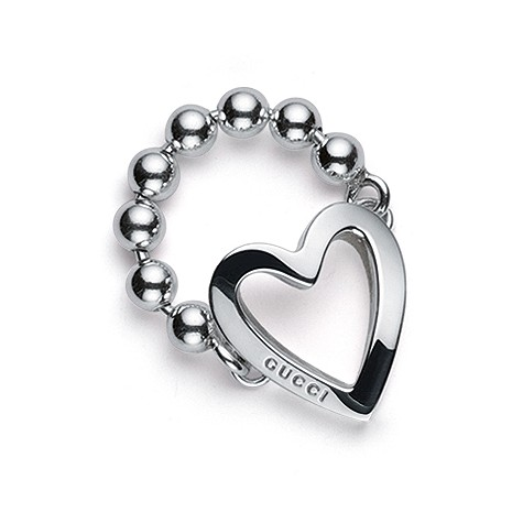 Toggle Heart ring in sterling silver
