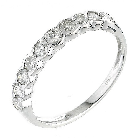 18ct white gold half carat diamonds ring