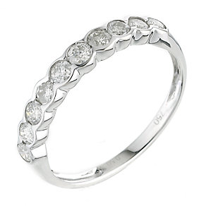 18ct white gold half carat diamonds ring - Product number 6328539