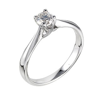 18ct White Gold 0.33 Carat Diamond Solitaire Ring - Product number 6333206