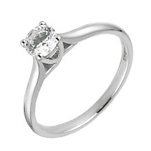 18ct White Gold Half Carat Diamond Solitaire Ring - Product number 6333877