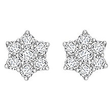 18ct gold half carat diamond daisy cluster stud earrings - Product number 6335071
